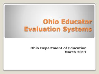 Ohio Educator Evaluation Systems