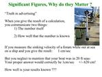 Significant Figures, Why do they Matter
