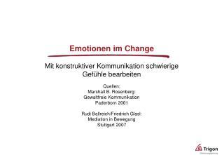 Emotionen im Change