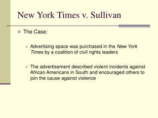 New York Times v. Sullivan