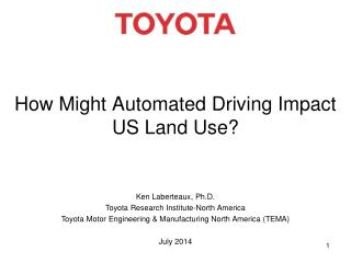 How Might Automated Driving Impact US Land Use?