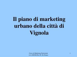Il piano di marketing urbano della città di Vignola