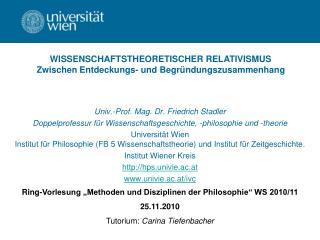 Univ.-Prof. Mag. Dr. Friedrich Stadler