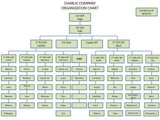 CHARLIE  COMPANY ORGANIZATION CHART