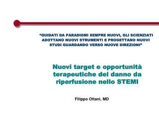 Nuovi target e opportunit� terapeutiche del danno da riperfusione nello STEMI