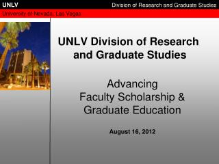 UNLV Division of Research  and Graduate Studies