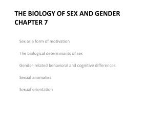 The Biology of Sex and Gender Chapter 7
