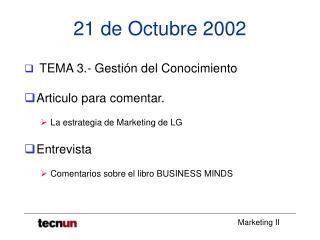 21 de Octubre 2002