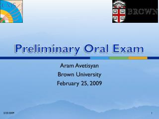 Preliminary Oral Exam