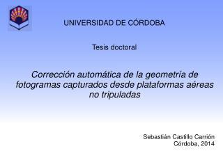 UNIVERSIDAD DE CÓRDOBA Tesis  doctoral