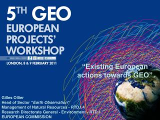 """Existing European actions towards GEO"""