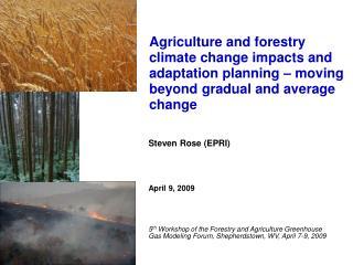 Steven Rose (EPRI) April 9, 2009