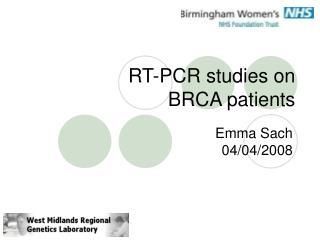 RT-PCR studies on  BRCA patients