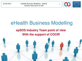 eHealth Business Modelling