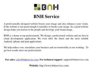 Google Sites Design Services from BNH