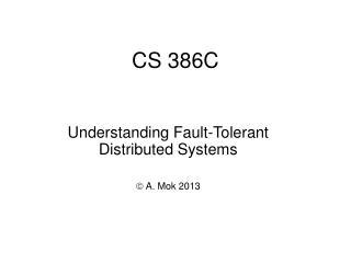 CS 386C