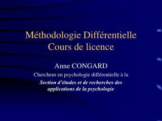 Méthodologie Différentielle Cours de licence
