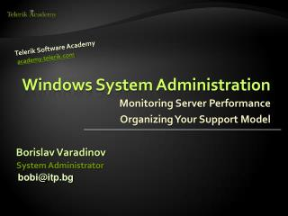 Windows System Administratio n