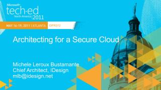 Architecting for a Secure Cloud