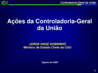 Ações da Controladoria-Geral da União