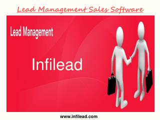 Lead Management Sales Software- Infilead