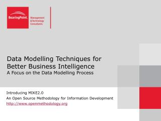 Data Modelling Techniques for Better Business Intelligence  A Focus on the Data Modelling Process