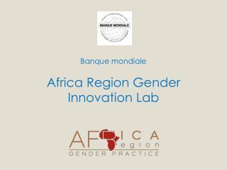 Banque m ondiale Africa Region Gender Innovation Lab