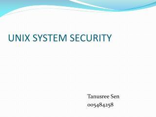 UNIX SYSTEM SECURITY