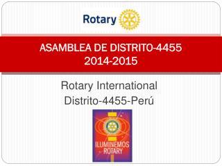 ASAMBLEA DE DISTRITO-4455 2014-2015
