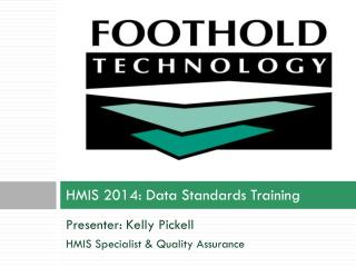 HMIS 2014: Data Standards Training