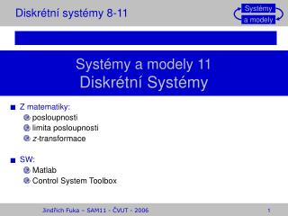 Diskr�tn� syst�my 8-11