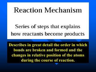Understanding reaction mechanisms (an analogy)