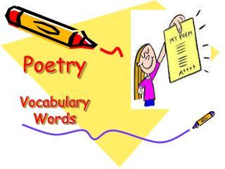 Poetry Vocabulary Words