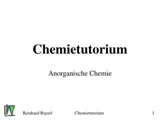 Chemietutorium