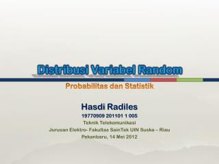 Distribusi Variabel  Random