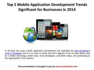 Top 5 Mobile Application Development Trends in 2014