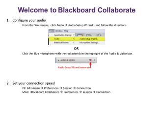Configure your audio