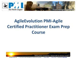 AgileEvolution PMI-Agile Certified Practitioner Exam Prep Course