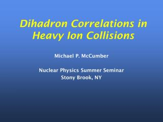 Dihadron Correlations in Heavy Ion Collisions