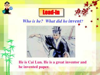 Who is he?  What did he invent ?