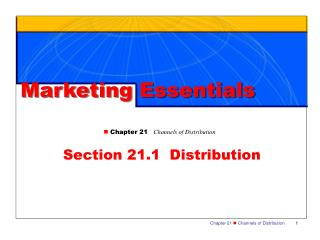 Section 21.1  Distribution