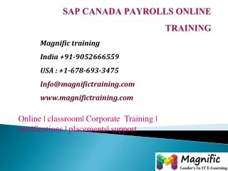 sap canada payrolls online training newzealand