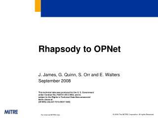 Rhapsody to  OPNet