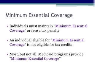 Minimum Essential Coverage