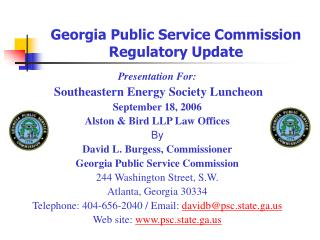 Georgia Public Service Commission Regulatory Update
