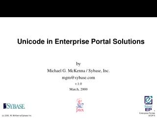 Unicode in Enterprise Portal Solutions