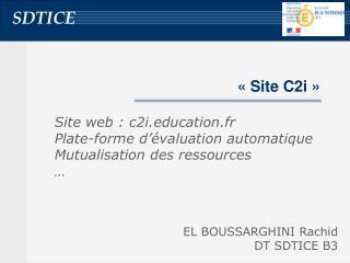 « Site C2i »