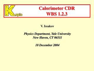 Calorimeter CDR WBS 1.2.3