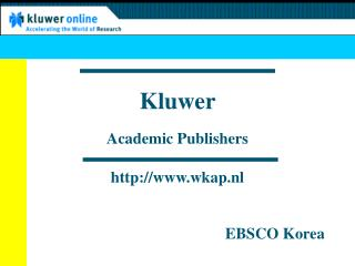 Kluwer  Academic Publishers