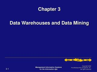 Chapter 3 Data Warehouses and Data Mining